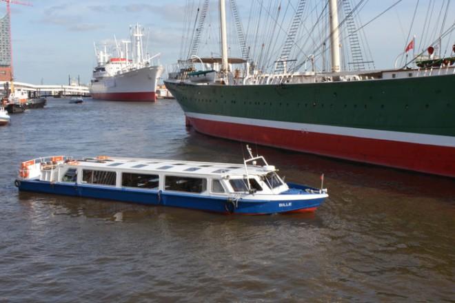 """Hafenrundfahrt auf der Barkasse """"Bille"""""""
